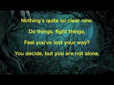 no one gets there alone books quot no one is alone quot into the woods lyrics 2014