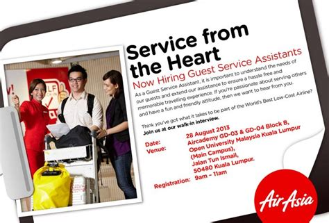 airasia s guest service assistant walk in