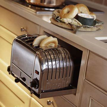 kitchens toaster on counter pullout kitchen storage ideas storage ideas toaster and hiding places