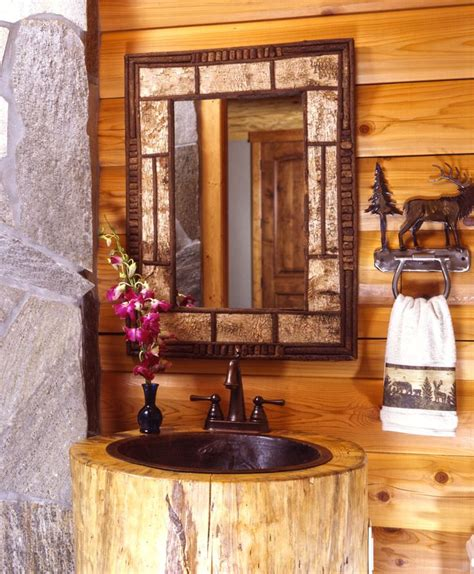 log home bathroom ideas decor