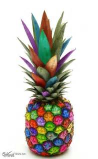 pineapple color rainbow pineapple colorful