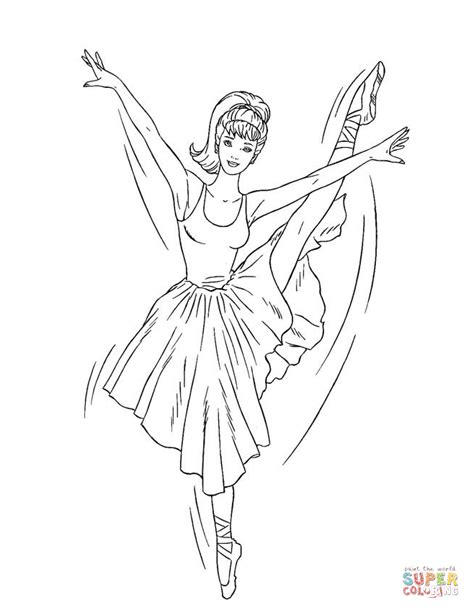 cute ballerina coloring pages barbie ballerina coloring page free printable coloring pages
