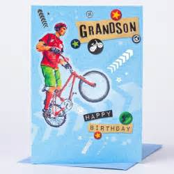 birthday card sports bike grandson only 59p