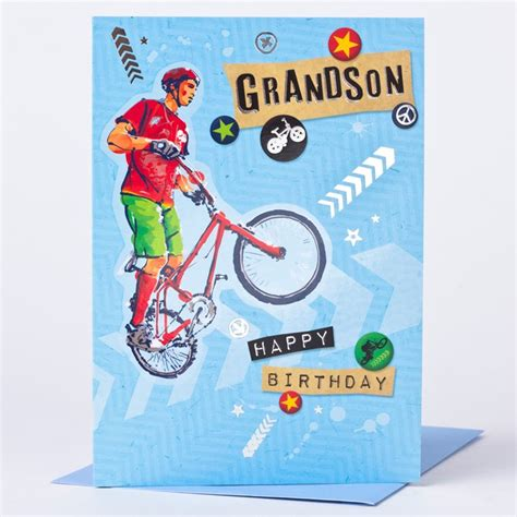 Grandson Birthday Card Birthday Card Sports Bike Grandson Only 59p