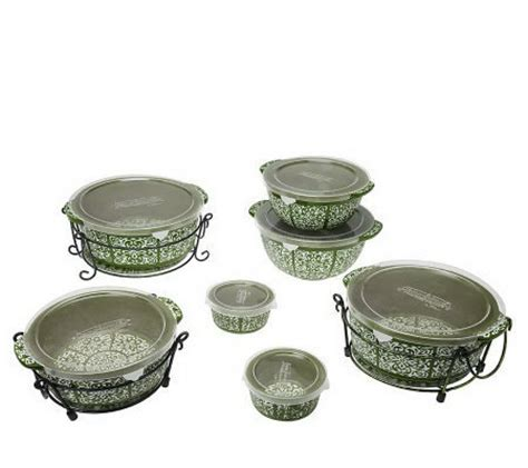 temp tations oven to table set temp tations carved medallion 13 pc oven to table set