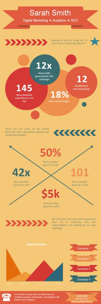 hubspot templates 4 templates for infographic resumes career sherpa