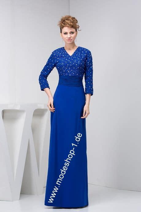 blaues abendkleider lang