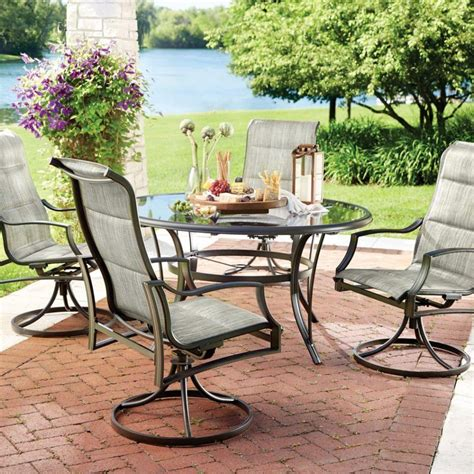 Glass Patio Table And Chairs Furniture Bnew Rattan Bar Set Outdoor Garden Dining Table