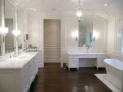 dark wood tile bathroom hardwood floor in the bathroom kate collins interiors
