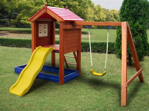 outdoor kids swing set sportspower sand n swing swing set toys games