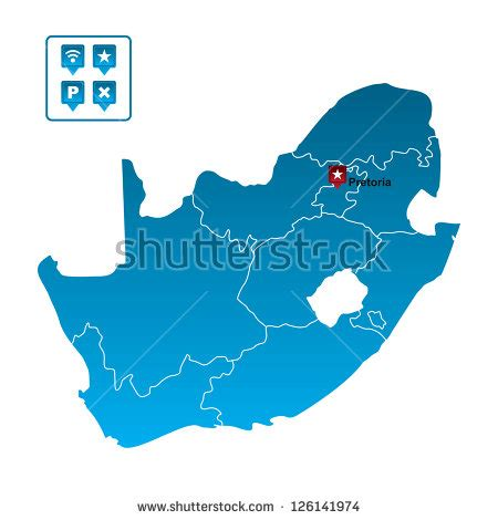 vector map south africa south africa map stock vector