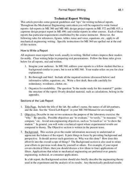 Sle Petition Doc Sle Technical Report Format 28 Images Sle Engineering Report 14 Documents In Pdf Technical