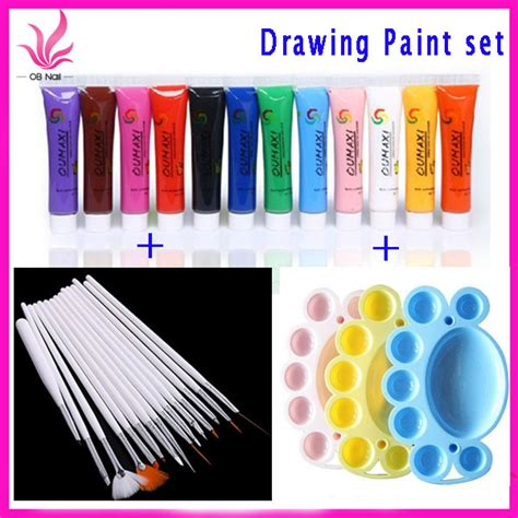 acrylic paint and nail aliexpress buy free shipping 12 colors acrylic paint
