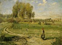 Apple Orchard Goose Harbor camille pissarro boulevard montmartre on a foggy
