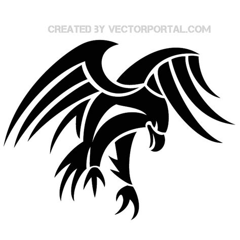 black eagle clipart simple pencil and in color black