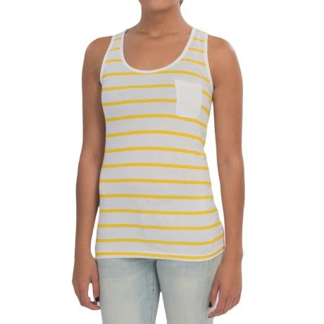 Yellow White Stripes Top barbour striped tank top for save 53