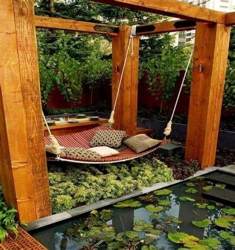 backyard relaxation ideas 39 relaxing outdoor hanging beds for your home digsdigs