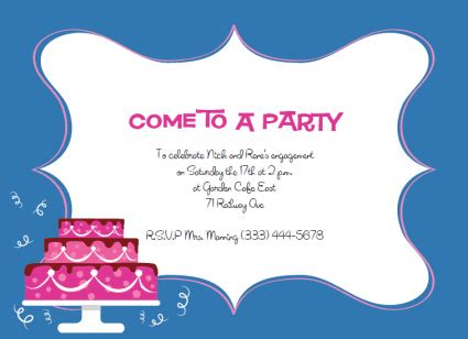 printable party invitations templates