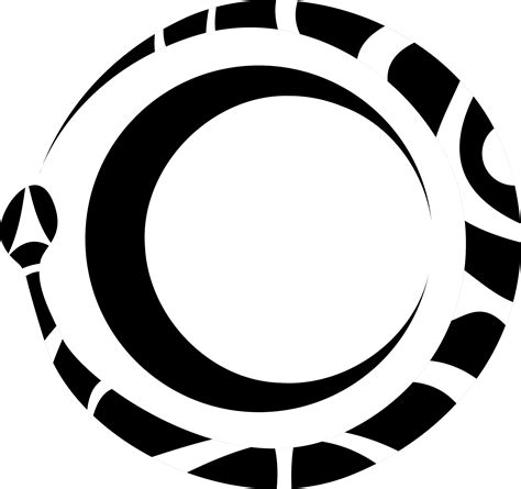 clipart ouroboros and moon