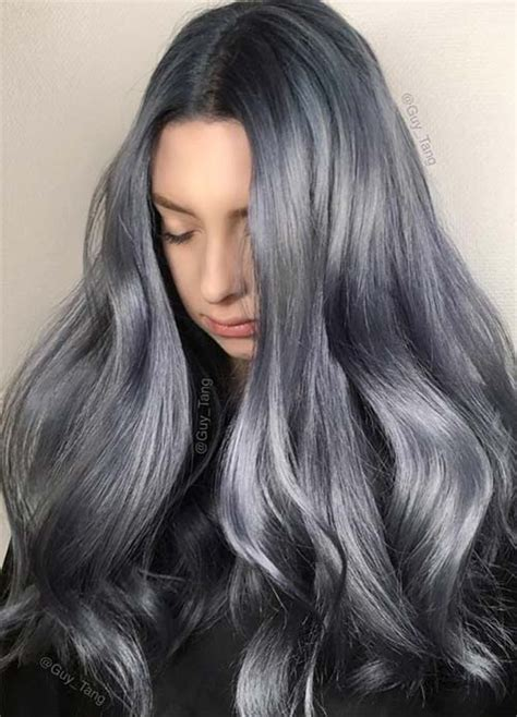 blue ash color 50 magically blue denim hair colors you will love