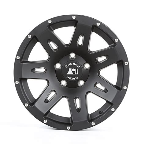 rugged ridge wheels jk rugged ridge 15301 60 xhd wheel black satin 17x8 5 07 16 jk jku