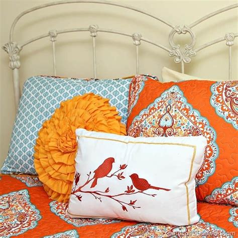 Orange Pink And Turquoise Bedding by Orange And Turquoise Bedroom Decor Makes Me Smile