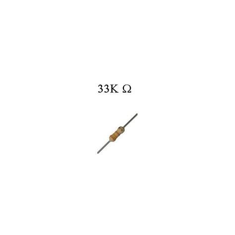 resistor de 33k resistor de filme de carbono 33k 1 4w hu infinito componentes eletr 244 nicos