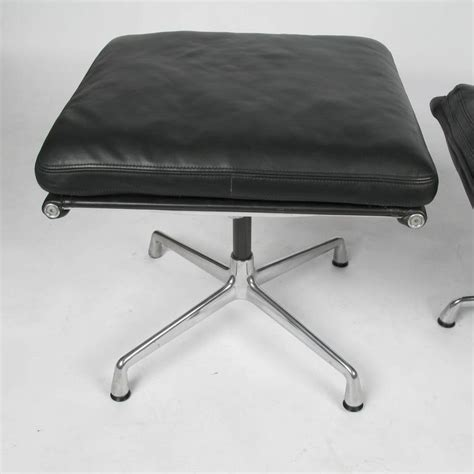 eames soft pad lounge chair eames soft pad lounge chair and ottoman at 1stdibs