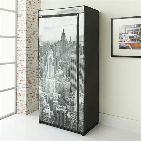 Canvas Wardrobes Uk by B M New York Canvas Wardrobe Bedroom Furniture Furniture