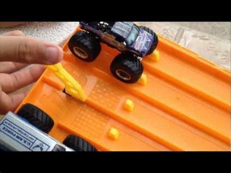 monster truck race track toys hotwheels monster truck drag racing youtube