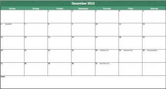 calendar template 2015 excel 2015 calendar printable