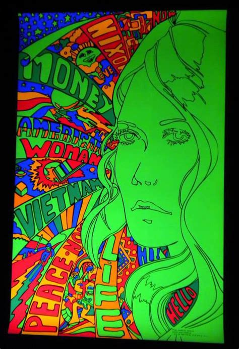 1970 black light posters american woman black light poster 1970 187 bars booths