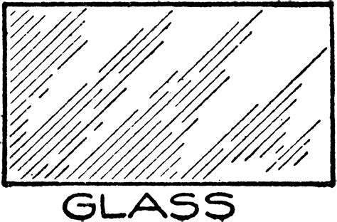 Mechanical Drawing Cross Hatching Of Glass Clipart Etc