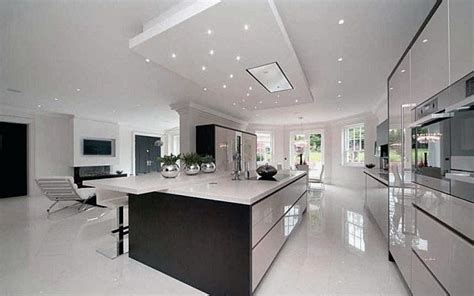 spacious design spacious kitchen design with glossy furniture
