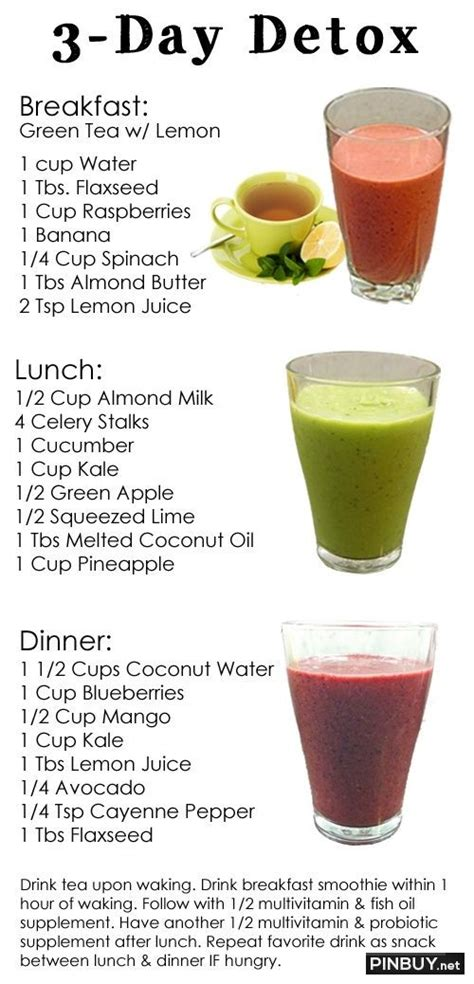 Dr Oz 3 Day Detox Cleanse Diet Plan by Fashion For And