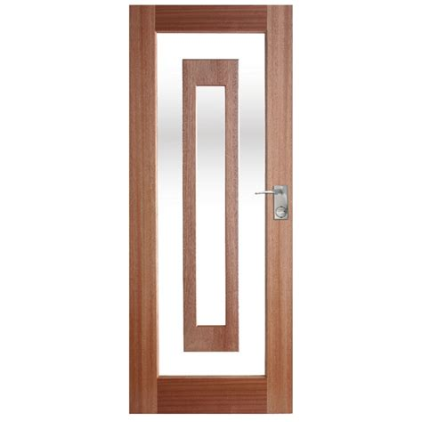 Exterior Doors Bunnings Hume Doors Timber 2040 X 820 X 40mm Illusion Entrance Door With Clear Glass