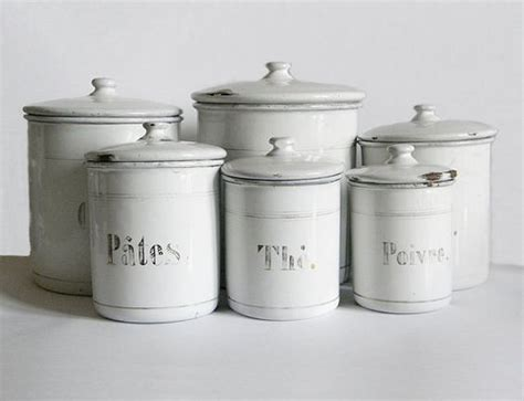 french 6 large size enamelware canisters kitchen pots spice pinterest the world s catalog of ideas