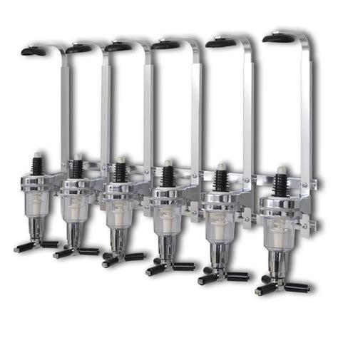 vidaxl co uk wall mounted 6 bottle professional liquor dispenser