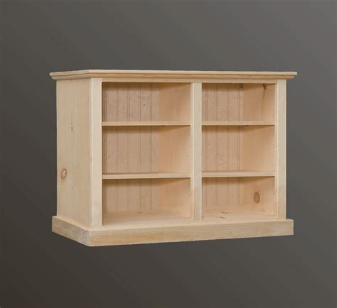 open back shelves bookcases cratsman interior design with unfinished pine bookcase kit