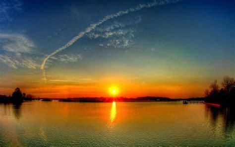 wallpaper pemandangan pemandangan senja sunset scenery okt