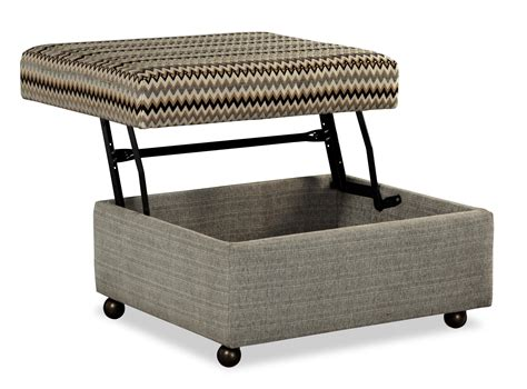 Ottoman With Casters Customizable Lift Top Storage Ottoman With Casters By Craftmaster Wolf And Gardiner Wolf Furniture
