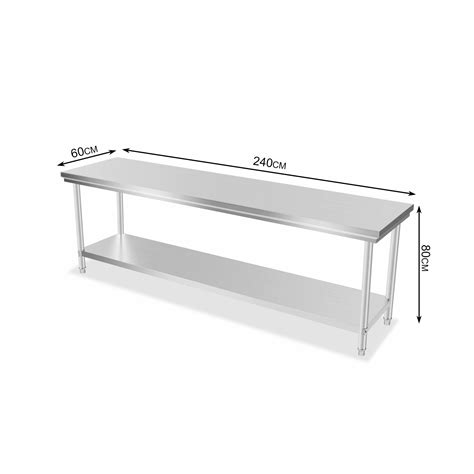 commercial stainless steel benches industrial commercial stainless steel kitchen food prep