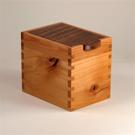 Handcrafted Wooden Box - handmade wooden box black walnut knotty cherry maple