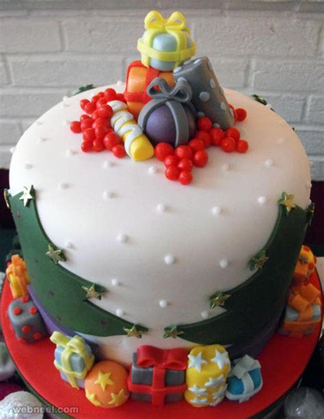 25 creative christmas cake decoration ideas and design examples