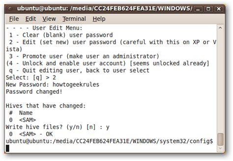 reset windows password with ubuntu how to reset windows password with ubuntu for free
