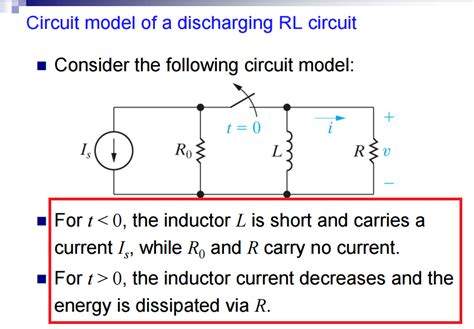 inductor resistor circuit resistors need help understanding the concept of quot circuit model of a discharging rl circuit