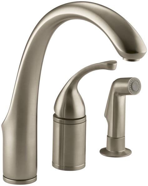 kitchen faucet valve faucet k 10430 bv in brushed bronze by kohler