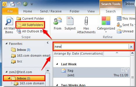 Search Within Outlook Email How To Search Emails Include Subfolders In Outlook