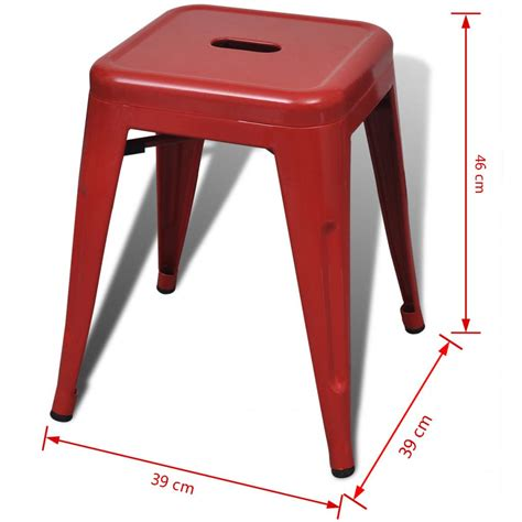 Small Mozaik 2 Pcs 2 pcs stackable small metal stool www vidaxl au
