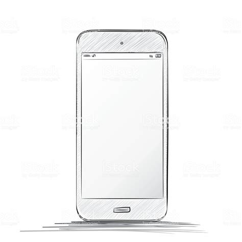 mobile dwg mobile phone drawing stock vector 530745397 istock